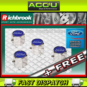Richbrook-Ford-Anti-Theft-Alloy-Car-Valve-Dust-Caps-FRE