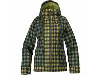 Burton Zephyr Snowboard Jacket Women's Size S Green Checked Plaid