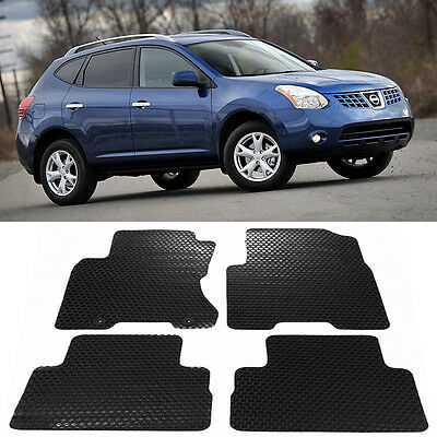 4 Pcs All Weather Black Rubber Floor Mat Front Rear Set For 08 13 Nissan Rogue