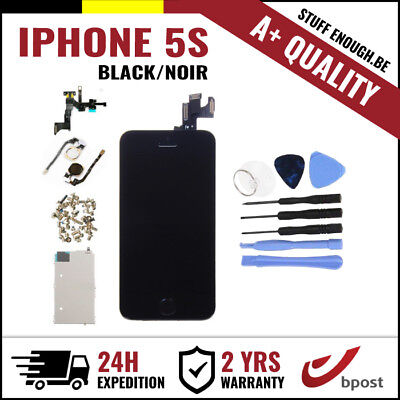 A+ LCD TOUCH SCREEN SCHERM ÉCRAN FULL ASSEMBLY BLACK NOIR + TOOLS FOR IPHONE 5S
