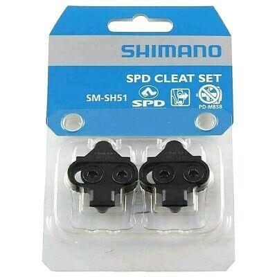 1432288a6 Genuine Shimano SM-SH51 SPD Single Release MTB Pedal Cleats - 4° Float