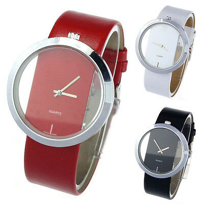 New Personalized Transparent Dial Hollow Analog Quartz Wrist Watch For Womens