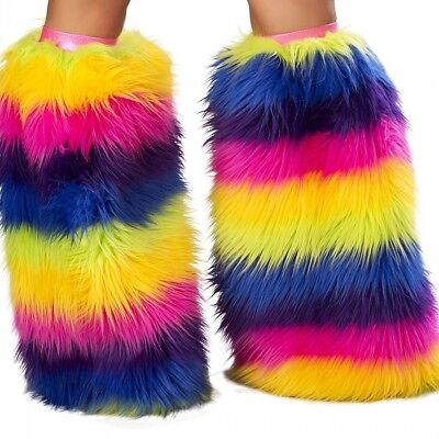 Beinstulpen Regenbogen Einhorn rainbow kuschlig flauschig weich Made in USA
