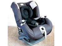 Britax First Class Plus car seat, birth to 18kg, black fabric, good condition
