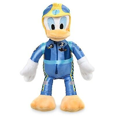 """DISNEY STORE MICKEY & ROADSTER RACERS DONALD DUCK PLUSH 8 3/4"""" H"""