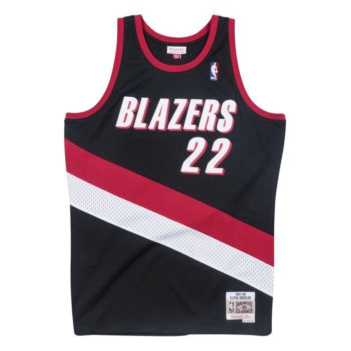 separation shoes 274a4 090dd Details about Mitchell   Ness NBA Portland Trail Blazers Clyde Drexler  22  HWC Swingman Jersey