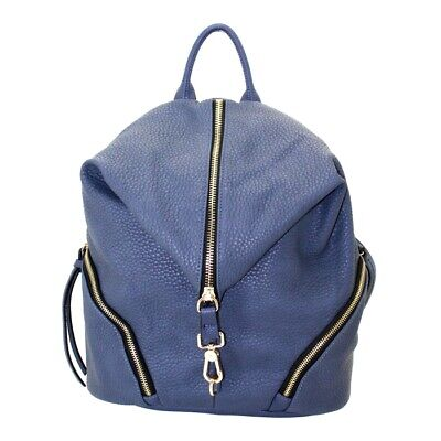Concealed Carry BackPack Purse Gun CAMELEON Vegan Leather Handbag Holster Blue