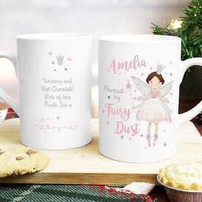 Personalised Name Fairy Princess Slim Mug Birthday Gift Idea For Girls Women - Girl Birthday Ideas