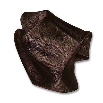 Brown Paisley Design Handkerchief Pocket Square Hanky Men's Handkerchiefs
