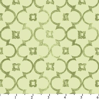 Fabric Blender Natural Splendor Scroll Damask on Mint Green Cotton by the 1/4 Yd