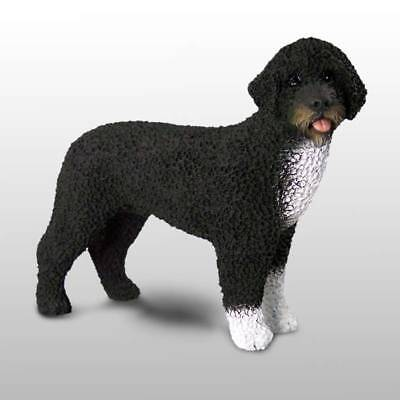 PRESIDENTIAL PORTUGUESE WATER DOG Hand Painted FIGURINE Resin Statue COLLECTIBLE
