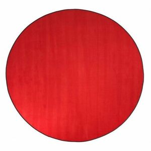 6' round Rowdy Red Area Rug
