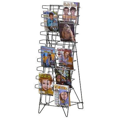 20 Pocket Magazine Wire Floor Book Display Rack Marvolus 65