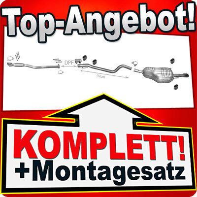 Auspuff OPEL ASTRA H 1.9 CDTi Schrägheck GTC mit DPF +2xRohr +CHROM Endrohr R48