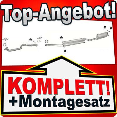 Montagesatz  Auspuff Fiat Multipla Blu /& Bipower Auspuff  Mittelopf Endtopf