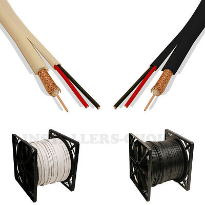 Rg59 Siamese Cable 500ft 1000ft 20awg+18/2 Cctv Security ...