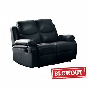 NEW! Reclining Love Seat - Available in Black or Dark Brown