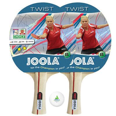2 Stück Joola Tischtennis Schläger Twist; Set mit 1 TT-Ball, Donic Schildkröt