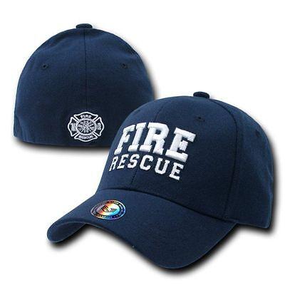 Fire Rescue Fireman Firefighter FD Flex Baseball Ball Cap Caps Emergency Hat
