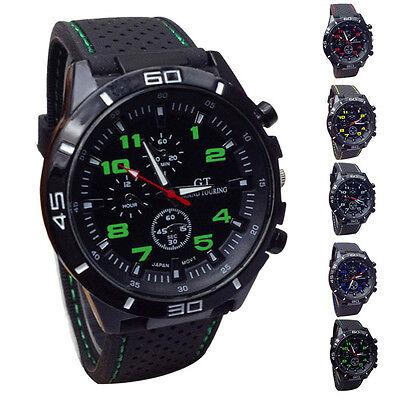Mens Sports Quartz Watch Fashion Hours Military Watches Silicone Wristwatch Gift