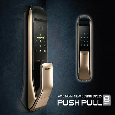 New Samsung SHP-DP820 2016 Keyless PUSH PULL Digital Smart Door Lock w/ Key-tags