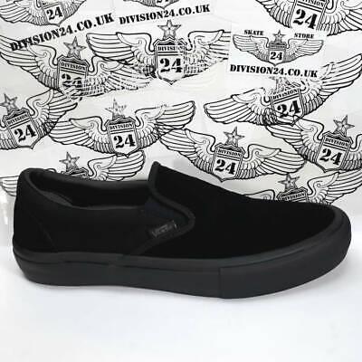 Vans Slip On Pro Shoes UK11 Blackout Skateboard Skate