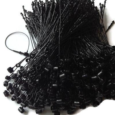 3 500 Pcs Snap Lock Pin Security Loop Plastic Tag Fastener Tie Black