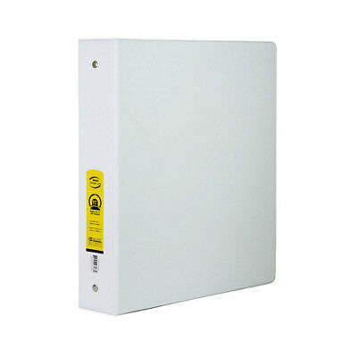 Bazic 1 Inch White 3-ring Binder W 2-pockets Pack Of - 12