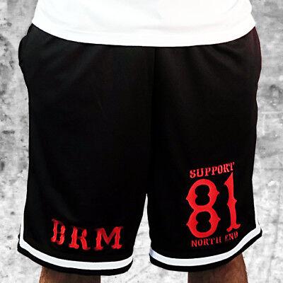 Schwarz Mesh Shorts (Support 81 Mesh Hose/Shorts BRM - Stick Sporthose Herren S-XXL - HAMC North End)
