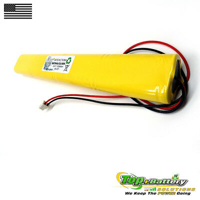 1pc Emergency Lighting Battery 9.6v 800mah Replaces Lithonia Unitech Bbat0043a