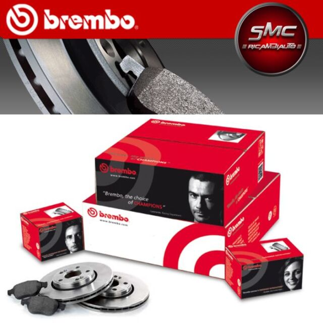 BREMBO BREMSSCHEIBEN + BREMSBELÄGE VORNE FIAT BRAVO II 198 1.4 / LPG 66 KW