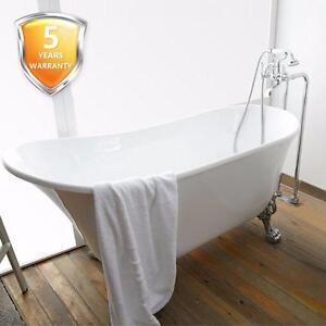 "63"" Claw foot Freestanding Bathtub - - Acrylic White or Black ( outside )"