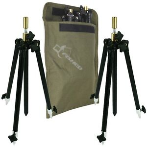 2X Mini Tripod Rod Rest Systems Fully Adjustable Pole + Free Bag Carp Fishing