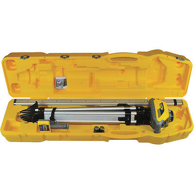 Spectra Precision Ll100 N -2 Self Leveling Laser With Tripod Grade Rod And Case