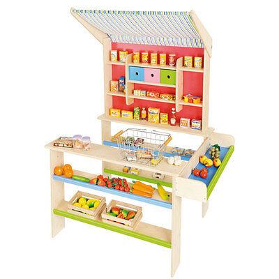 Nemmer Kaufladen / Kaufmannsladen aus Holz mit Markise für Kinder