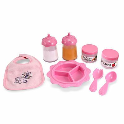 Melissa & Doug - TIME TO EAT - 8 Piece Feeding Set BABY DOLL ACCESSORY 4888