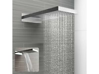 BRAND NEW Luxury Chrome Dual Function Waterfall and Rain Shower Head. RRP £374.99