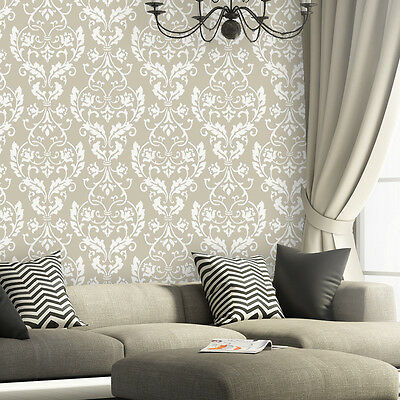 Wall Stencil Large Damask Leonard stencils better than wallpaper for DIY