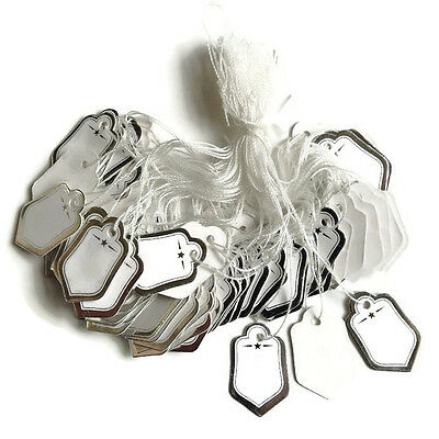 200 Silver Wstring Price Coupon Tag Hang Label Cloth Jewelry Watch Necklace