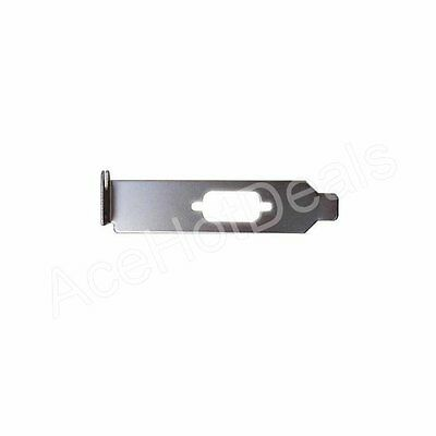Low profile Bracket for Serial DB9 RS232 9pin 9p Com Port host case Cable cord (Serial Port Bracket Low Profile)
