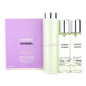 Chanel Chance 3 pack with Spray Bottle