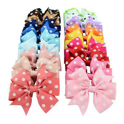 Polka Dots Hair Bows für Mädchen Boutique Grosgrain Ribbon Bögen Haarspangen ()