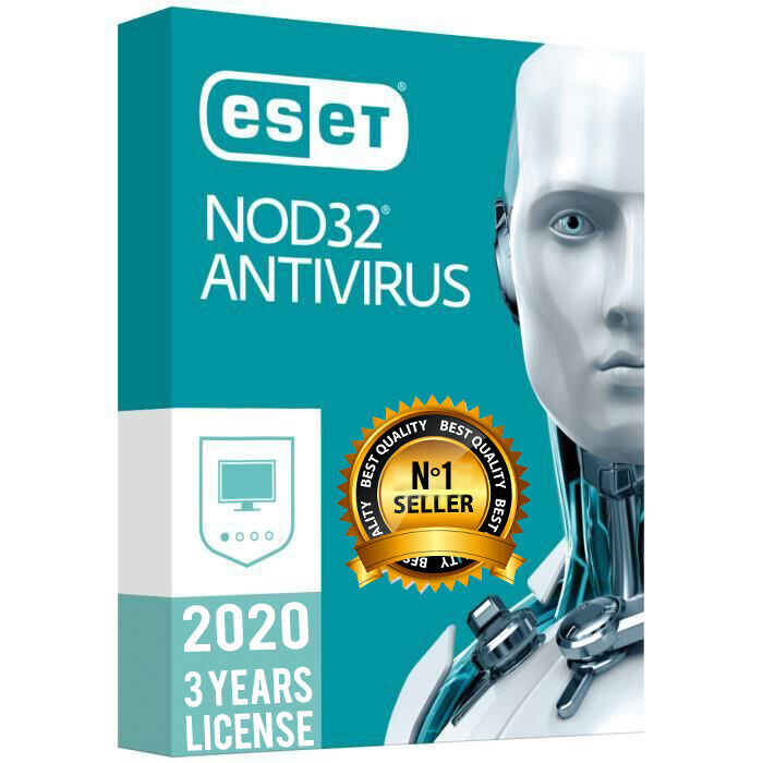ESET NOD32 ANTIVIRUS 2020 ???? 3 YEARS ???? 1 PC ???? GENUINE ACTIVATION KEY