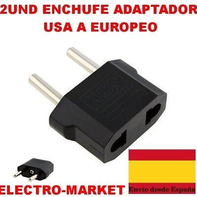 CONVERTIDOR PLANO A REDONDO ENCHUFE ADAPTADOR USA A EUROPEO