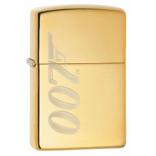 ZP4 Zippo Lighter: James Bond 007 Engraved - High Polish Brass 80915