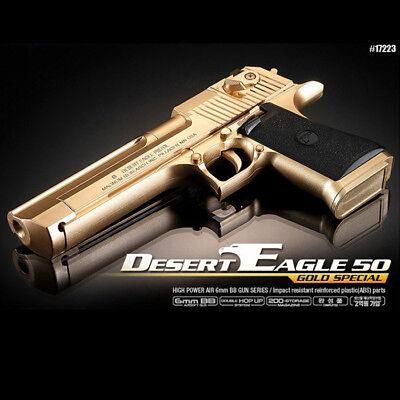 Academy Korea Desert Eagle 50 Gold Airsoft Pistol BB Replica Hand Toy Gun 6mm comprar usado  Enviando para Brazil
