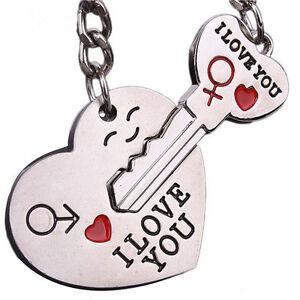 I love you Couples Heart and Key set