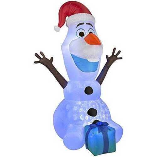 NEW 6 FT Frozen Olaf Airblown Yard Inflatable Lights Up Gemm