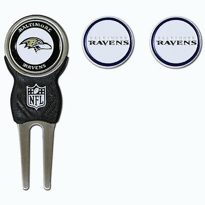 Baltimore Ravens NFL Team Golf Divot Tool with 3 Magnetic Ball Markers