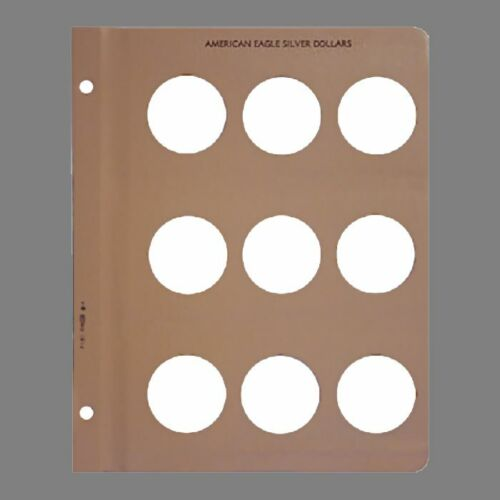Dansco Coin Album Page Blank American Silver Eagle 1 Ounce
